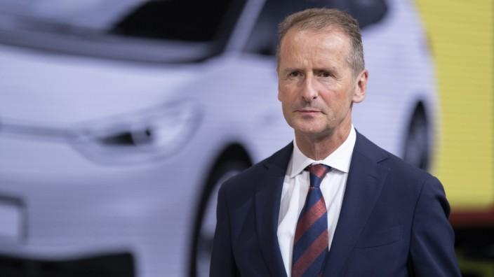 VW-Konzernchef Herbert Diess 2019 auf der IAA