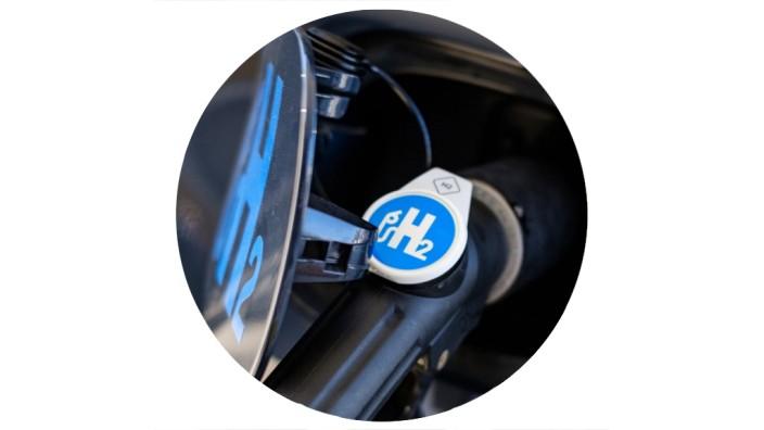 Energieversorgung: Zapfhahn einer Wasserstofftankstelle in Hannover.