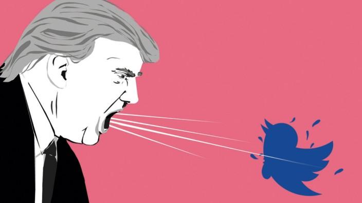 US-Politik und Internet: Illustration: Stefan Dimitrov