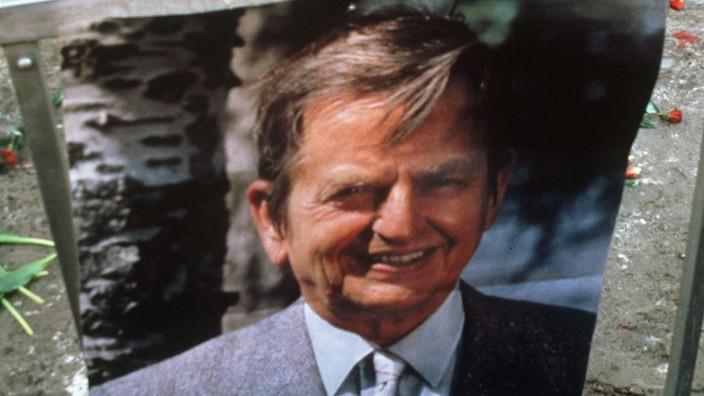 Der ehemalige schwedische Ministerpräsident Olof Palme