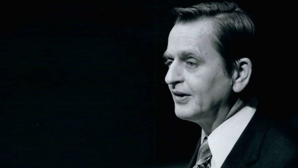 Schwedens Ministerpräsident Olof Palme 1975 bei der UN