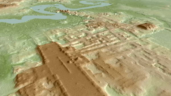 A three-dimensional image of the ancient Maya Aguada Fenix site