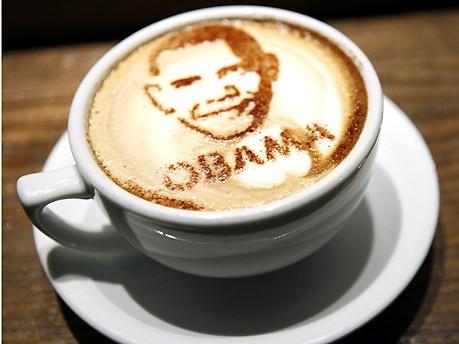 Barack Obama Das Geschäft mit der Vereidigung Foto: bonanza coffee heroes