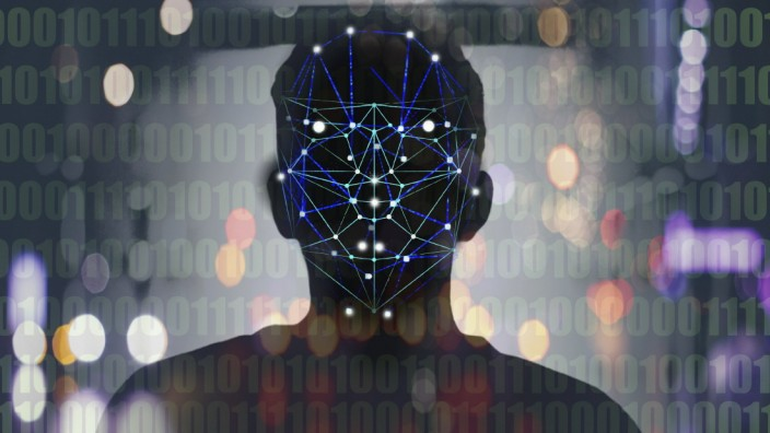Gesichtserkennungstechnologie *** face recognition technology PUBLICATIONxINxGERxSUIxAUTxONLY Copyright: xGaryxWatersx
