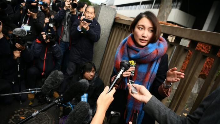 Sexuelle Gewalt: Shiori Ito im vorigen Dezember nach einer Anhörung vor Gericht in Tokio.