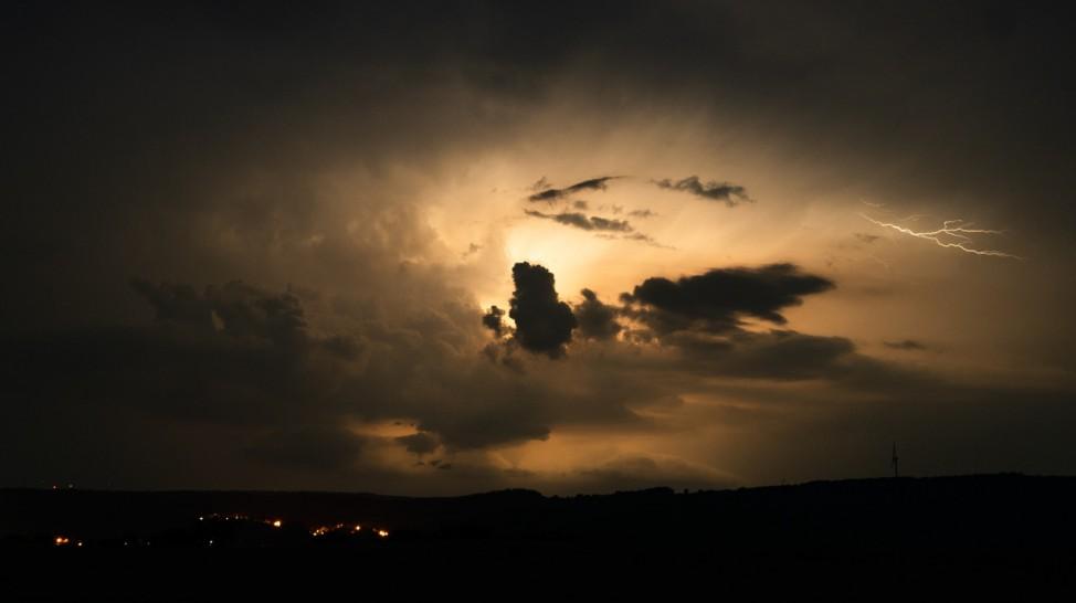 Unwetter in Oberfranken