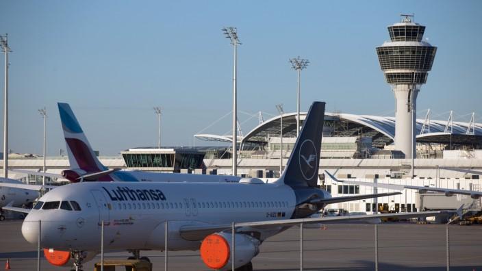 Corona-Stillstand am Flughafen München, 2020
