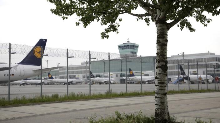 Stillstand auf dem Münchner Flughafen, 2020