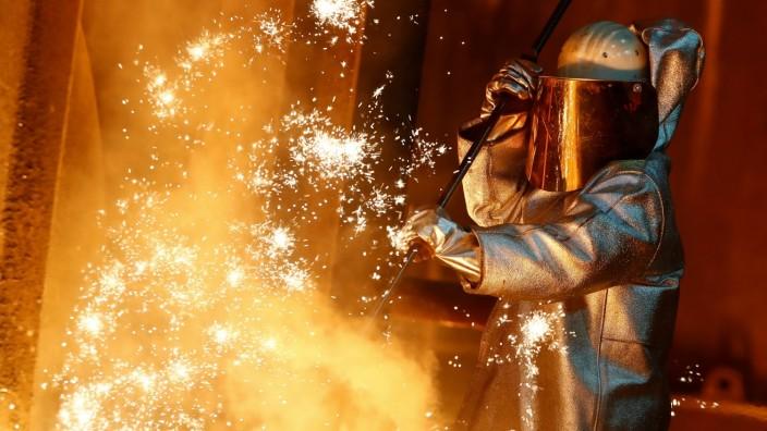 FILE PHOTO: ThyssenKrupp steel factory in Duisburg