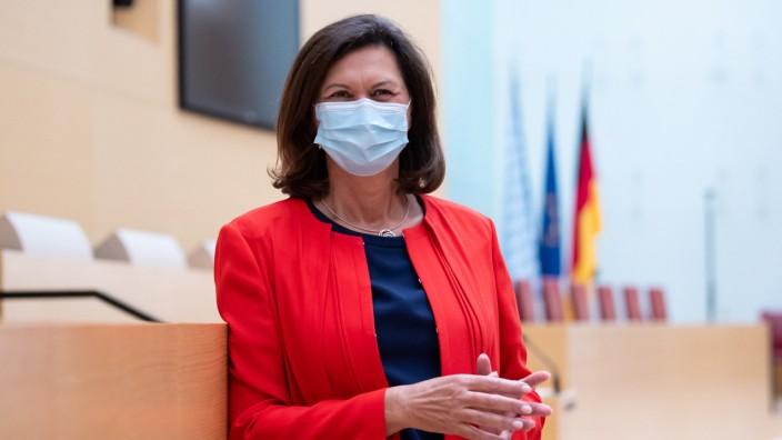 Maskenpflicht im bayerischen Landtag