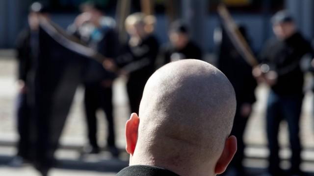 Demonstration von Rechtsextremisten in Koblenz