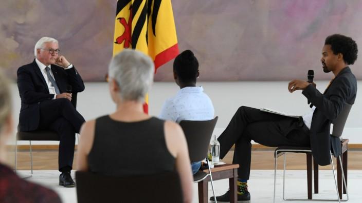 German President Frank-Walter Steinmeier hosts anti-racism discussion round in Berlin