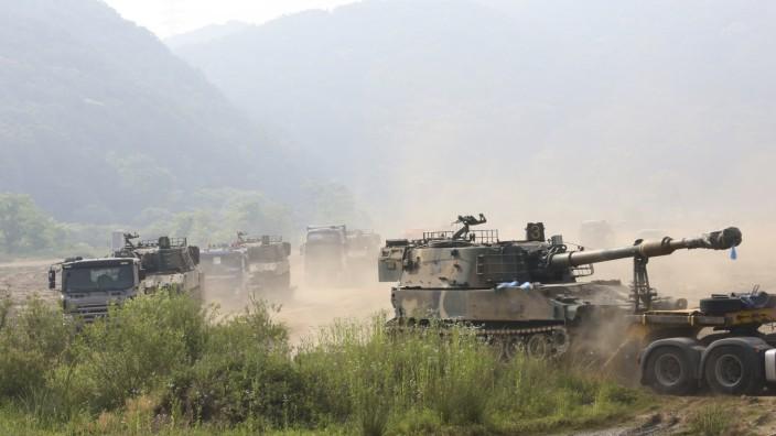 Militärübungen von Nordkorea an Grenze