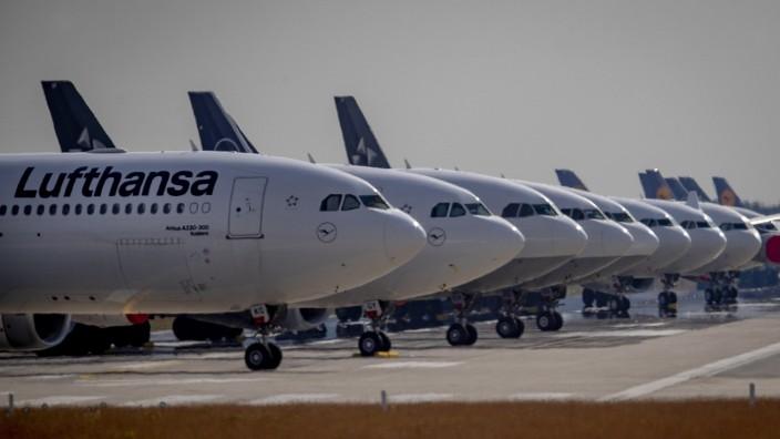 Lufthansa-Flugzeuge in Frankfurt