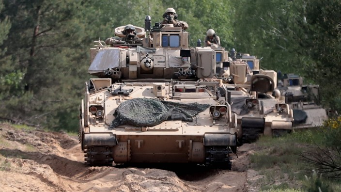 The exercise DEFENDER-Europe 20 in Poland Soldiers of 12th Polish Mechanized Brigade and US 3rd Infantry Division take