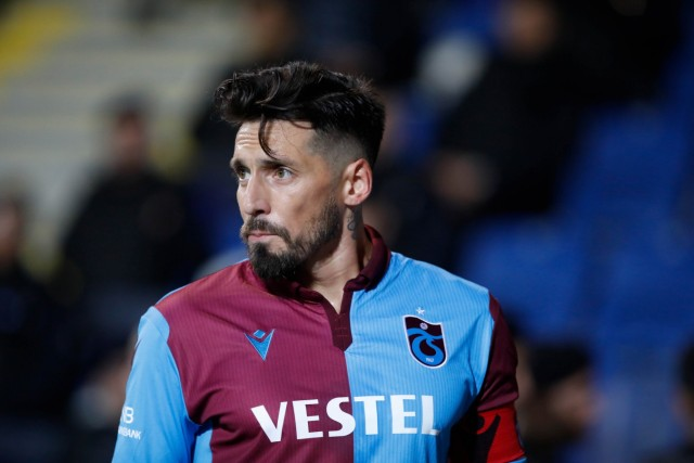 Jose Sosa of Trabzonspor during the 2019-2020 Turkish Super League Football Match between Basaksehir and Trabzonspor at; c