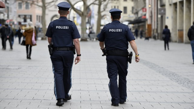 Polizeistreife in München, 2020