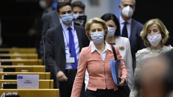 EU-Hilfspaket: Vor drei Wochen präsentierte Kommissionspräsidentin Ursula von der Leyen ihren Vorschlag für das Corona-Hilfspaket.