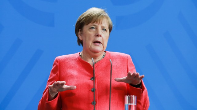 Merkel Press Conference Following Videoconference With European Council