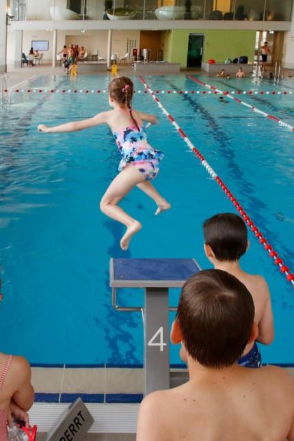 Schwimmabzeichenaktionstag im Seebad; Aktionstag im Seebad Starnberg