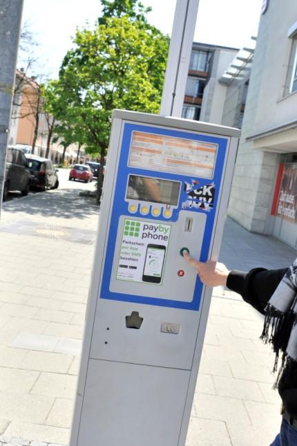 Starnberg: Parkuhr in der Wittelsbacherstrasse