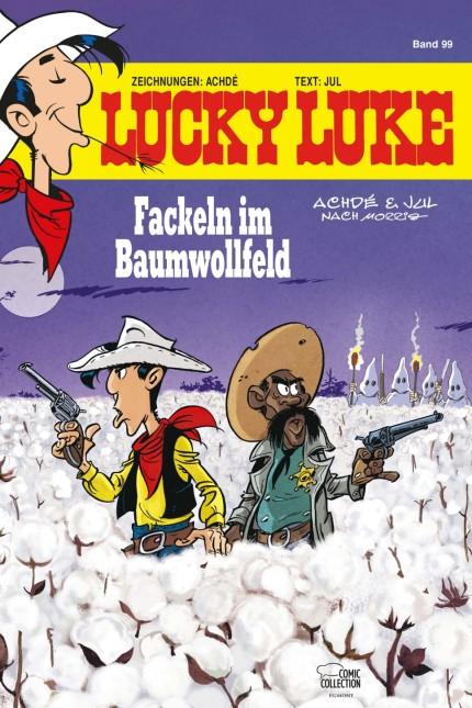 "Cover des neuen Lucky Luke Albums ""Fackeln im Baumwollfeld"".   © 2020 Lucky Comics/Egmont Ehapa Media"