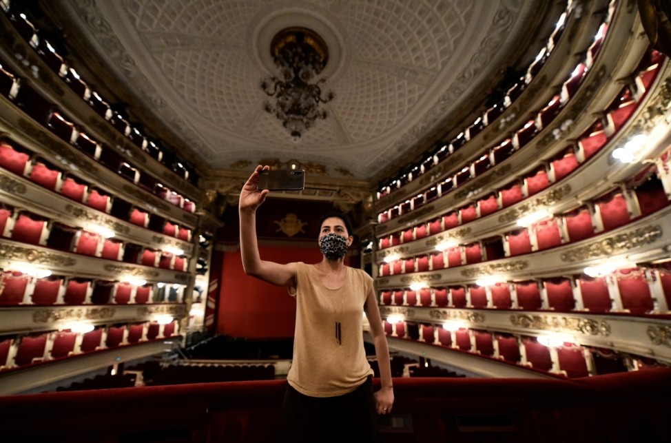 Italy's La Scala opera house reopens to the public for the first time since the coronavirus disease (COVID-19) outbreak, in Milan