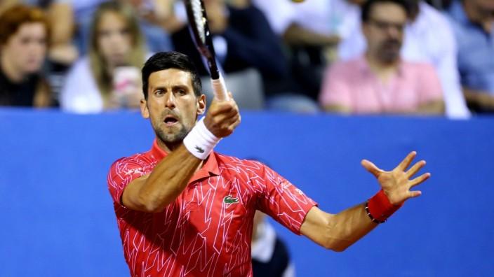 Novak Djokovic während der Adria Tour 2020