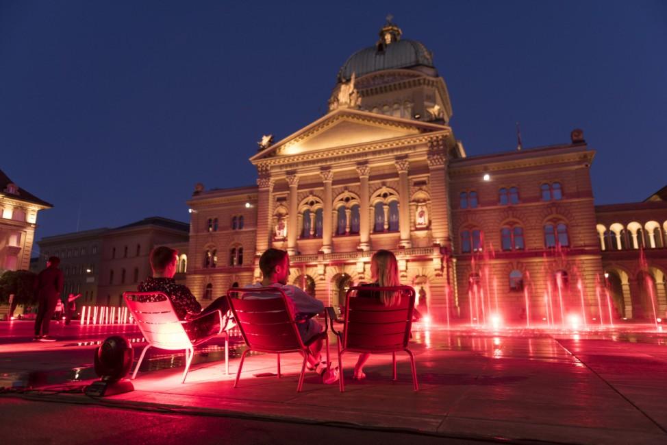 Aktion 'Night of Light' - Bern