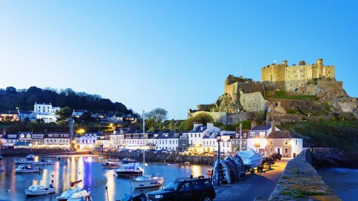 Mont Orgueil Castle Gorey Castle Gorey Jersey Channel Islands United Kingdom Europe PUBLICATI