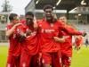 Bayern-Jubel um Torschuetzen Derrick KOEHN (KÖHN) ( 27, FCB2, 2.v.li.) mit Kwasi Okyere WRIEDT ( 9, FCB2, 2.v.re.) nach; Kwasi Wriedt, FC Bayern