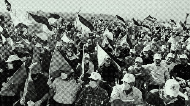 Demonstration im Westjordanland