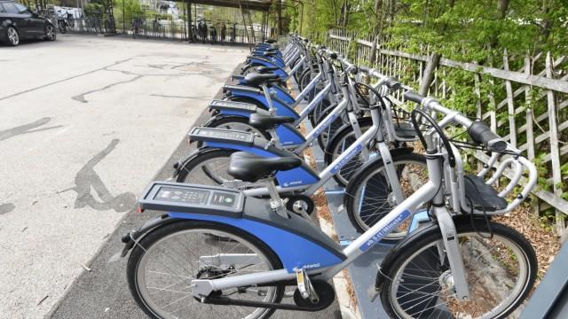 Mietradstation der MVG in Planegg, 2020