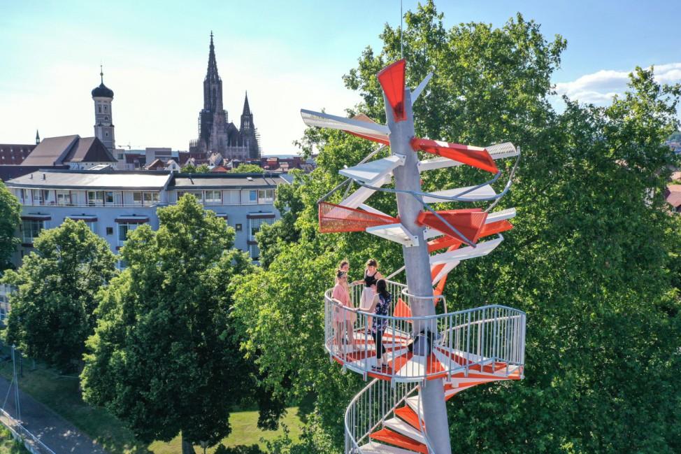 Berblinger-Turm an der Donau wird eröffnet