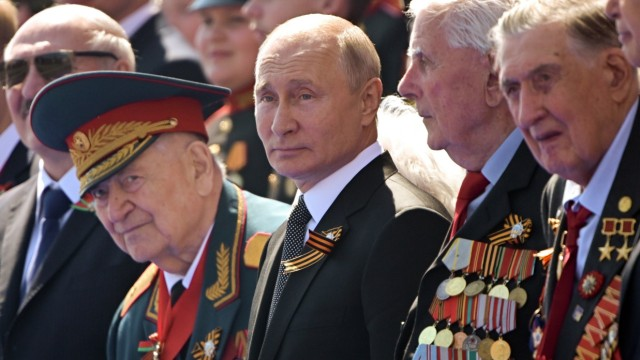 Putin Russland Parade Corona