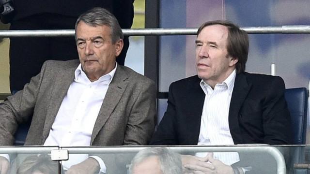 DFB Wolfgang Niersbach und Günther Netzer auf Tribüne TSG 1899 Hoffenheim vs SV Werder Bremen 13 09; x