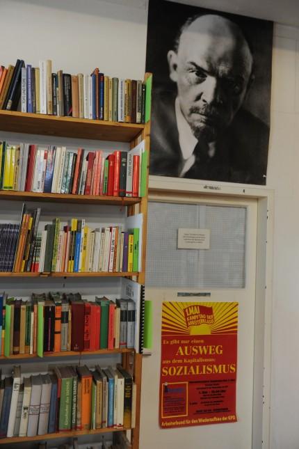 """Verlag und Druckerei im """"Haus mit der roten Fahne"""" in München, 2016"""