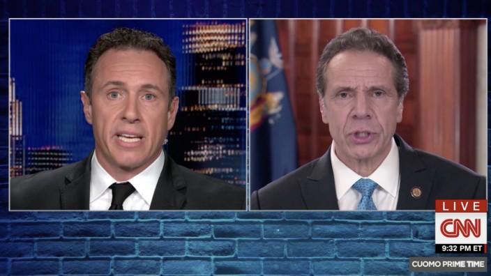 Chris und Andrew Cuomo bei CNN, mit Erlaubnis von CNN einmalig für die Geschichte abzudrucken: 27.6.2020