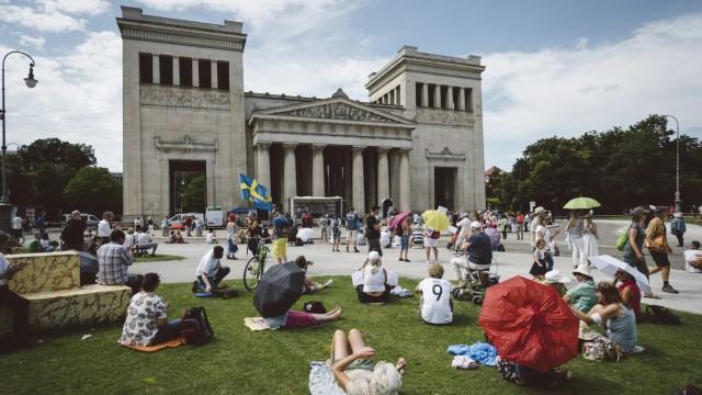 Proteste: Am Königsplatz trafen sich Gegner der Corona-Maßnahmen.