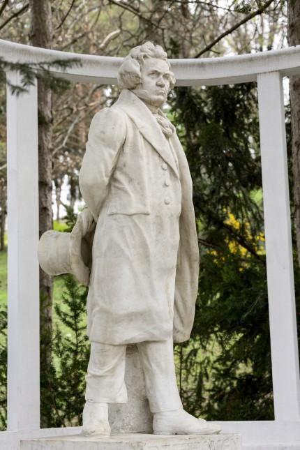Ludwig van Beethoven Denkmal im Heiligenstädterpark in Wien, Österreich *** Ludwig van Beethoven Monument in the Heilige