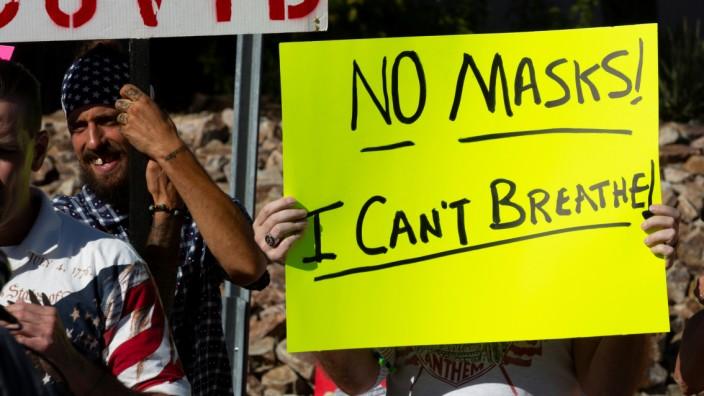 Coronavirus in den USA: Demonstrationen während der Corona-Pandemie
