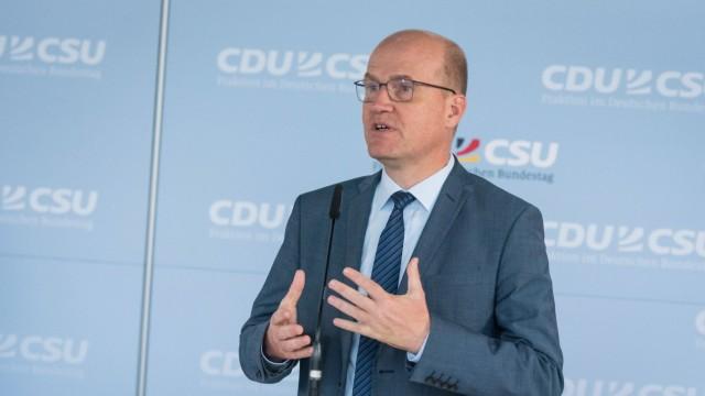 Berlin, Pressekonferenz CDU CSUFraktion Deutschland, Berlin - 16.06.2020: Im Bild ist Ralph Brinkhaus (Vorsitzender der