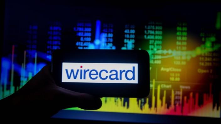 DAX Corporations, Das Logo von Wirecard ist in dieser Illustration zu sehen. Das Unternehmen gehört zum Deutschen Aktie