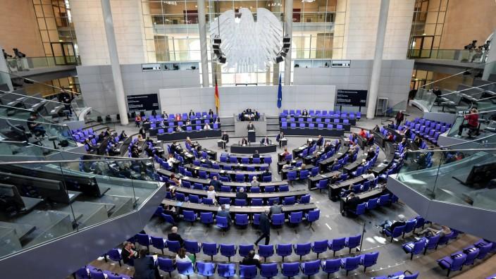 Deutscher Bundestag: Plenarsaal im Reichstag