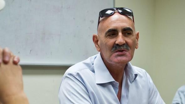Jan 8 2014 West Bank DAVID ELCHIANI Jordan Valley Regional Council Director briefs journalis