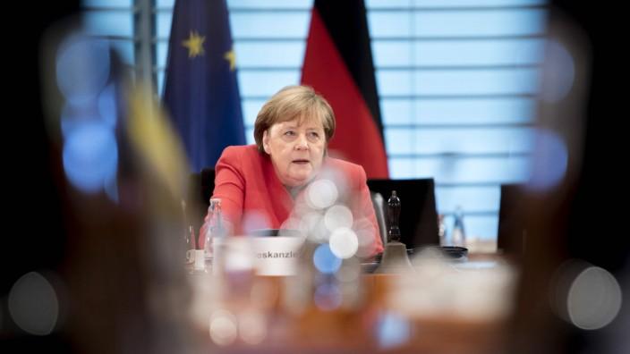 Angela Merkel, Kabinett DEU, Deutschland, Germany, Berlin, 24.06.2020 Angela Merkel, Bundeskanzlerin CDU, vor der Kabin