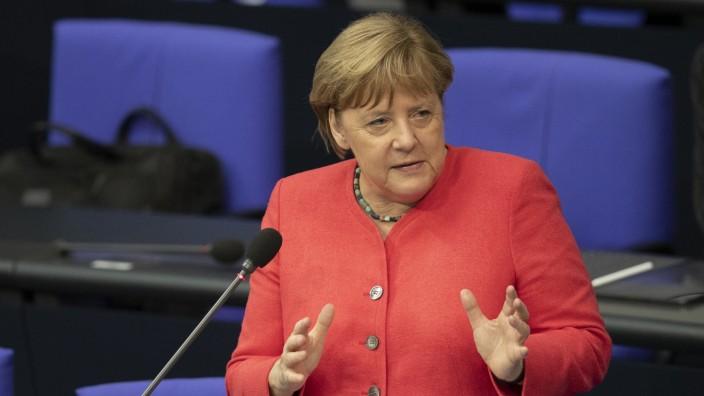 Merkel Bundestag Fragestunde Frauenquote