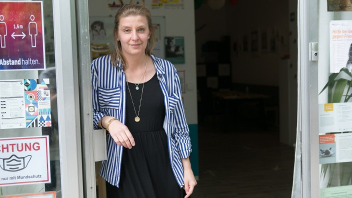 Pädagogin Sandra Lüders vom Mädchentreff in der Blumenau, Gelbhofstraße 16
