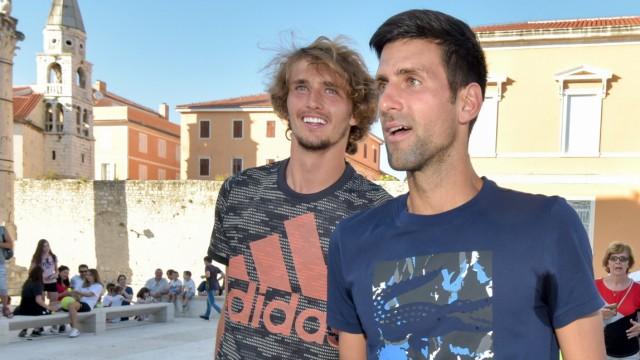 Sport Bilder des Tages  18.06.2020., Zadar, Croatia - Kids Day of the tennis mega-spectacle Adria Tour held on Zadar For