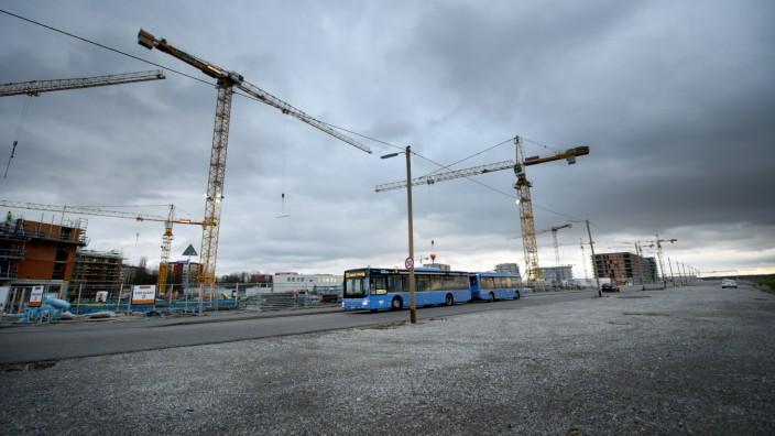 Neubaugebiet Freiham-Nord in München, 2020